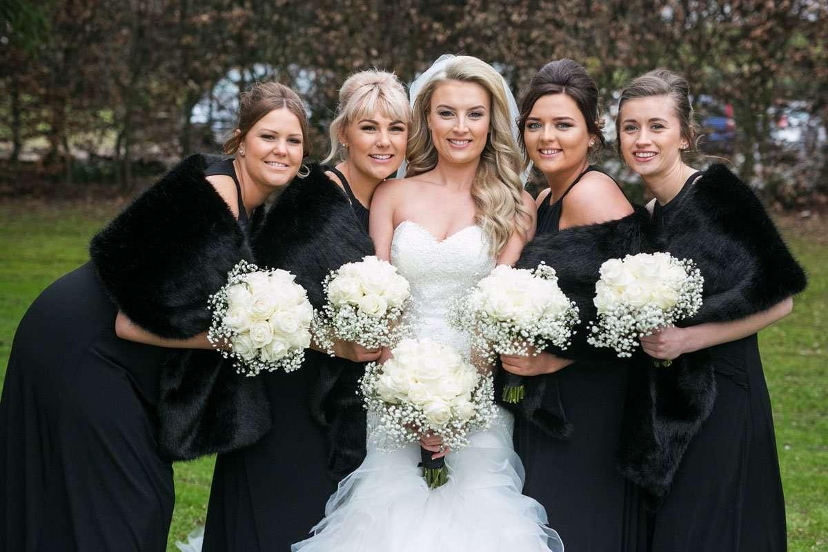 bridesmaids group shot in midlands